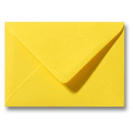 Bedrukte envelop 110 x 220 mm Geel