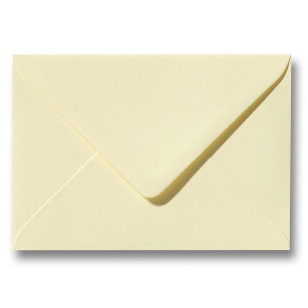 Bedrukte envelop 140 x 140 mm Zachtgeel
