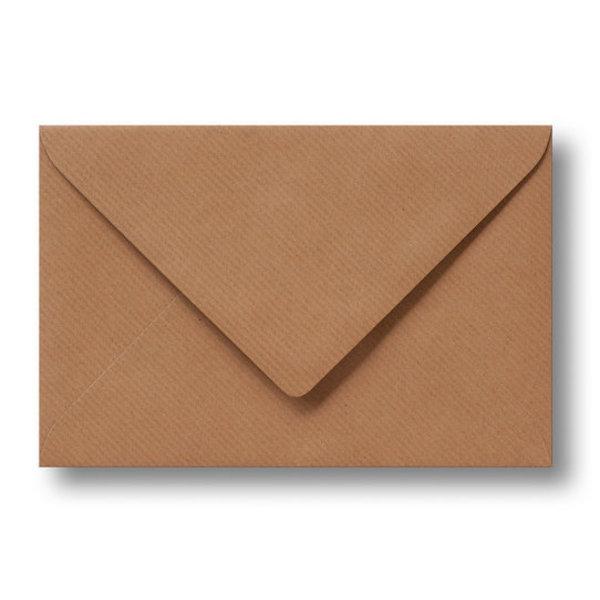 Bedrukte envelop 140 x 140 mm Kraftpapier