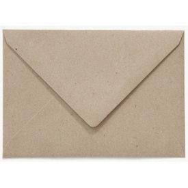 Bedrukte envelop 140 x 140 mm Grijskarton