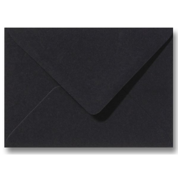 Bedrukte envelop 140 x 140 mm Zwart
