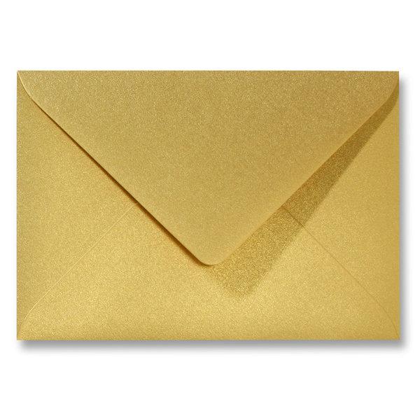 Bedrukte metallic envelop 140 x 140 mm Goud