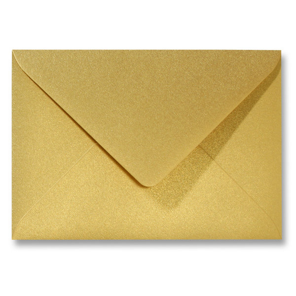 Bedrukte metallic envelop 110 x 220 mm Goud