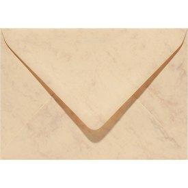 Bedrukte marmer envelop 114 x 162 mm Okergeel