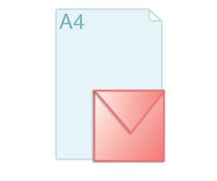 Enveloppen met een formaat van 160 x 160 mm