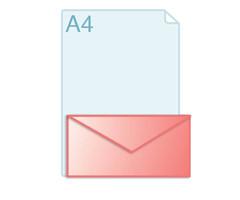 Enveloppen met een formaat van 110 x 220 mm