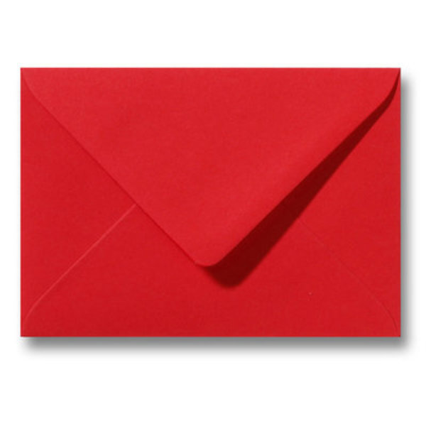 Bedrukte envelop 125 x 180 mm Pioenrood