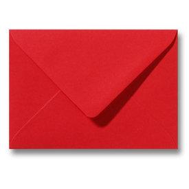 Bedrukte envelop 140 x 140 mm Pioenrood