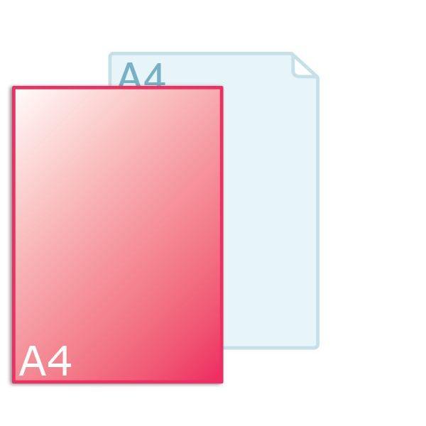 Inlegvellen voor kaart A4 (210 x 297 mm)