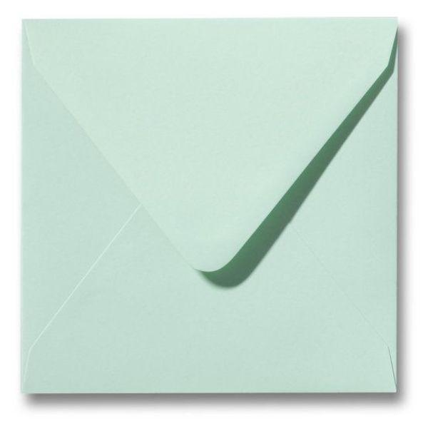 Gekleurde envelop Lentegroen