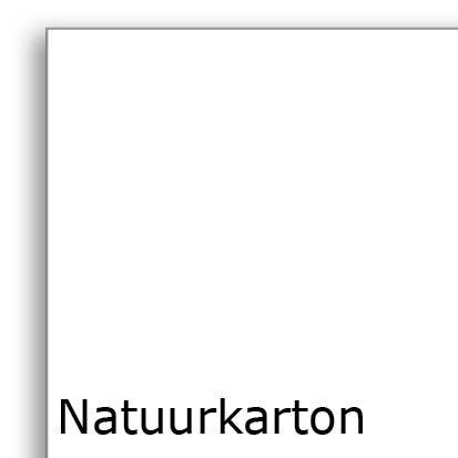 Hagelwit natuurkarton