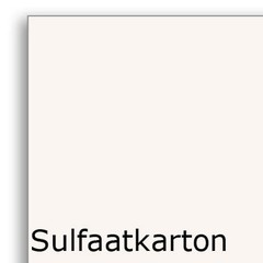 Tweezijdig gestreken sulfaatkarton