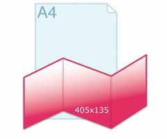 Drieluik carré 135 zig/zag