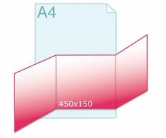 Drieluik carré 150 zig/zag
