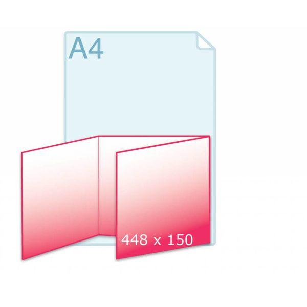 Drieluik wikkel carré 150 kaart (448 x 150 mm)