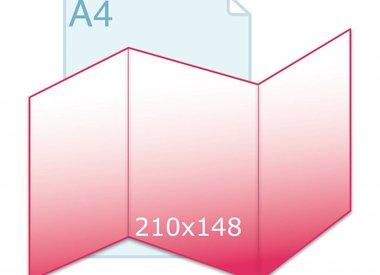 Drieluik A5 zig/zag