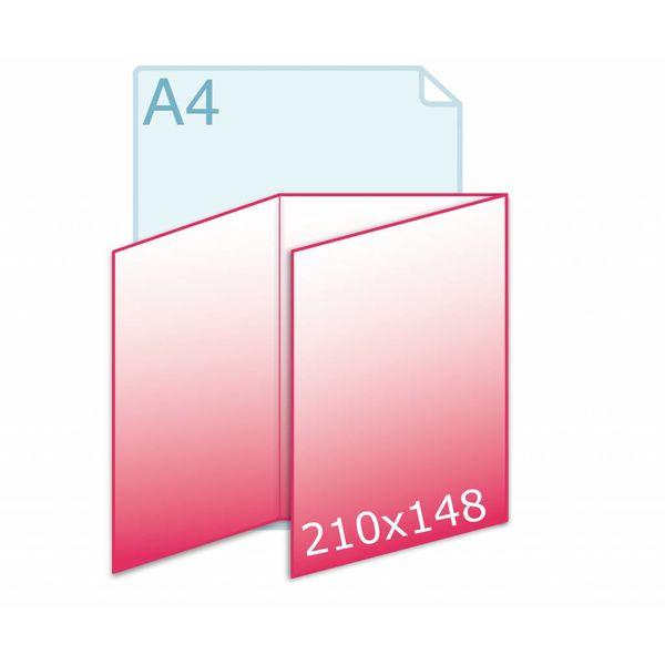 Drieluik zig/zag A5 (444 x 210 mm)