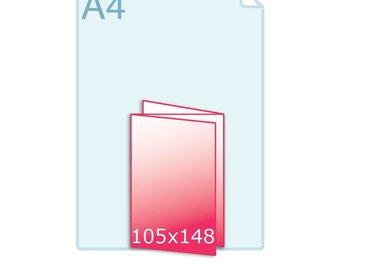 Drieluik A6 zig/zag