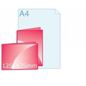 Gevouwen kaart 125 x 175 mm