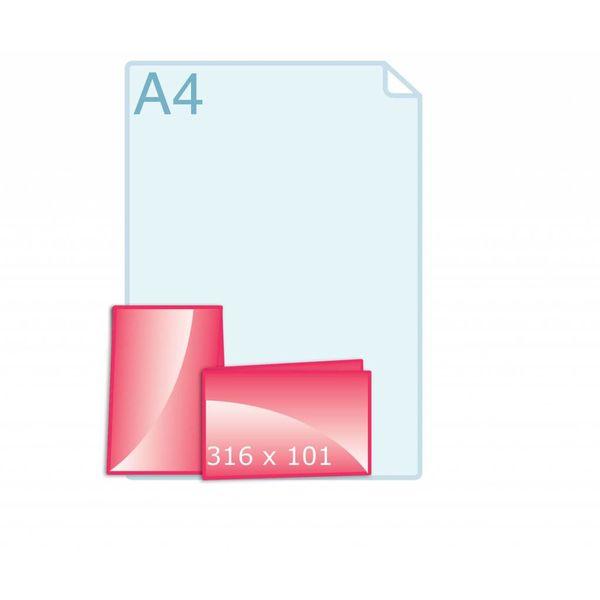 Gevouwen kaart 316 x 101 (158 x 101 mm) - liggend