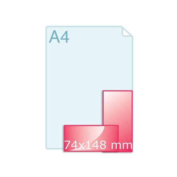 Enkele kaart 74 x 148 mm