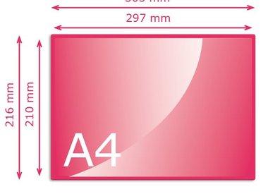 Kleiner dan A4 (210 x 297 mm)