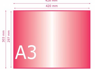 Kleiner dan A3 (297 x 420 mm)