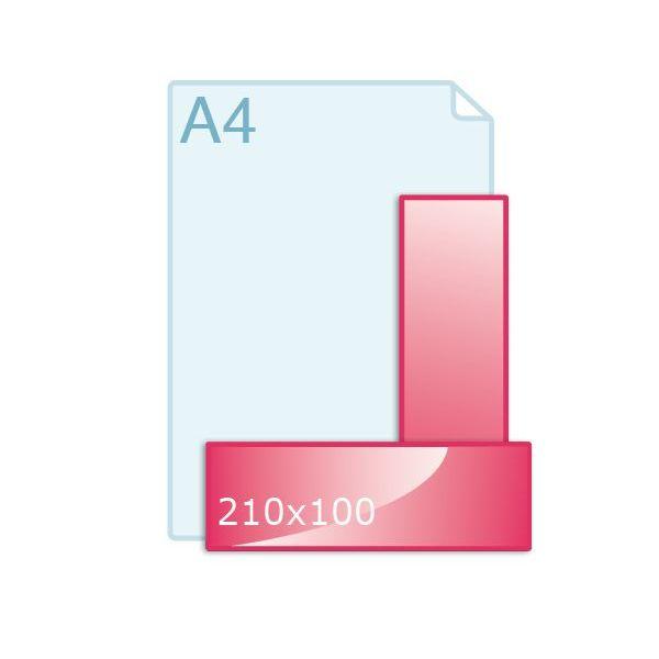 Online flyers drukken 210 x 100 mm