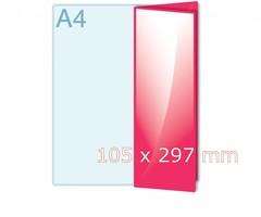 Folders drukken op 105 x 297 mm formaat