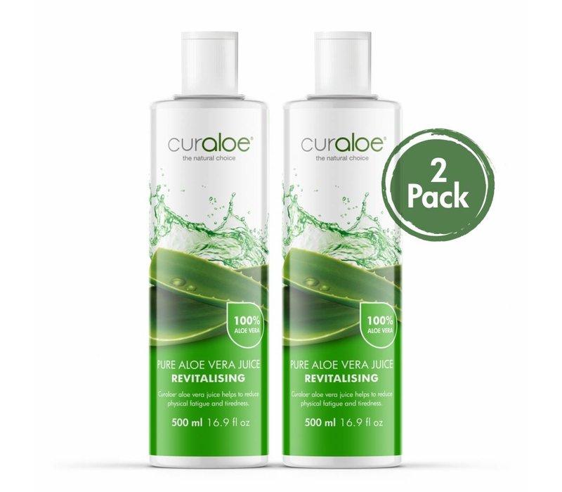 Health line - Pure Aloe Vera Supplement 17.0 fl oz / 500ml - 2 pack