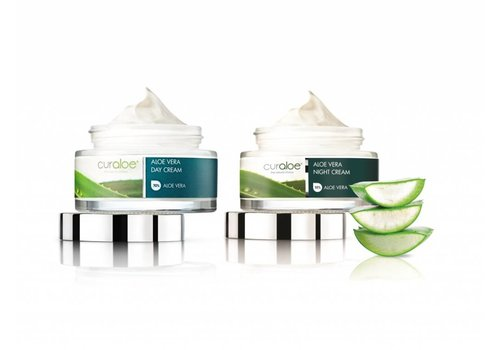 Curaloe Facial line - Day & Night Cream Combo Aloe Vera