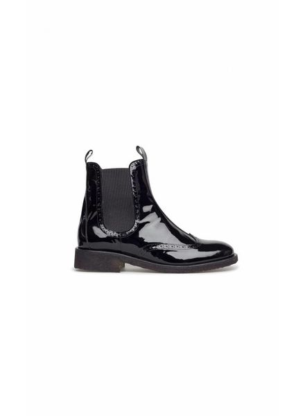Angulus Chelsea Boot Lacquer Black