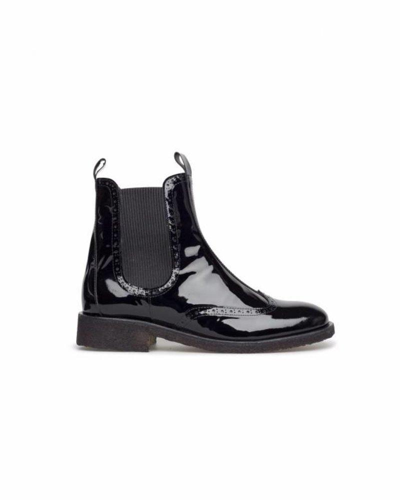 Angulus Chelsea Boot Lacquer Black