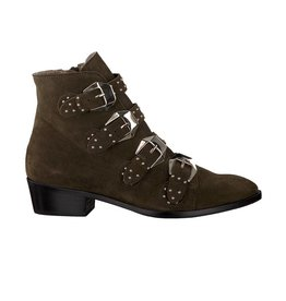 Toral Toral Dark Green Suede Ankle Boots