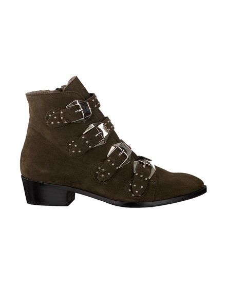 Toral Buckle Boot Suede Army Green