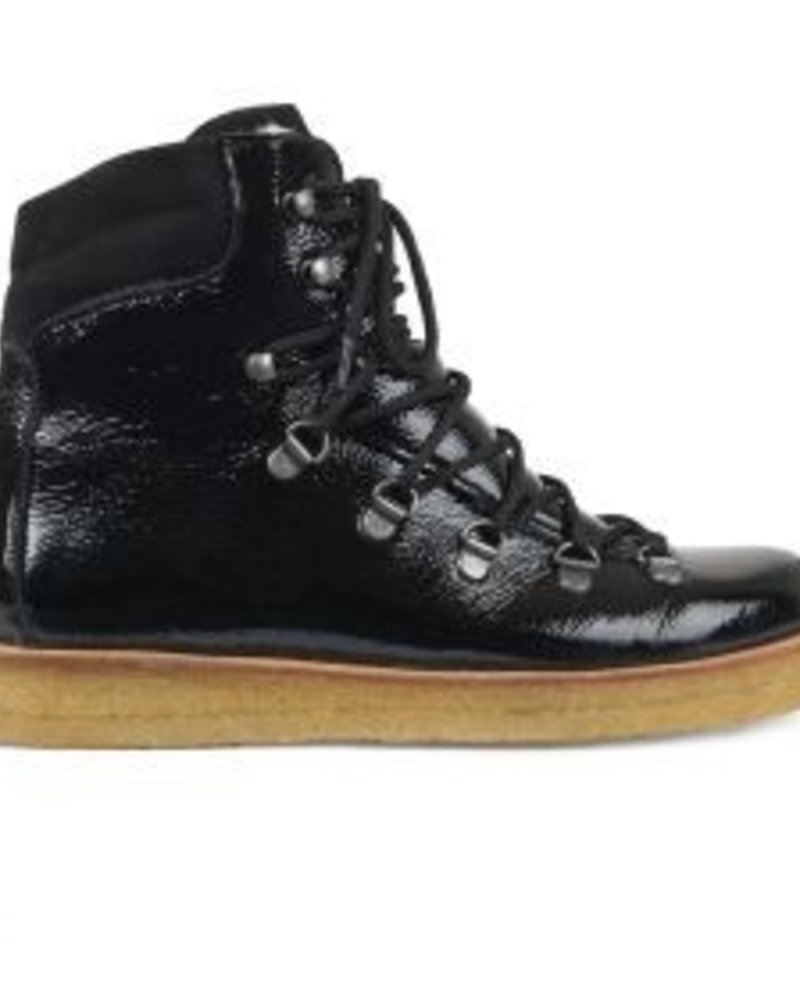 Angulus Wool Lining Laced Boot Black