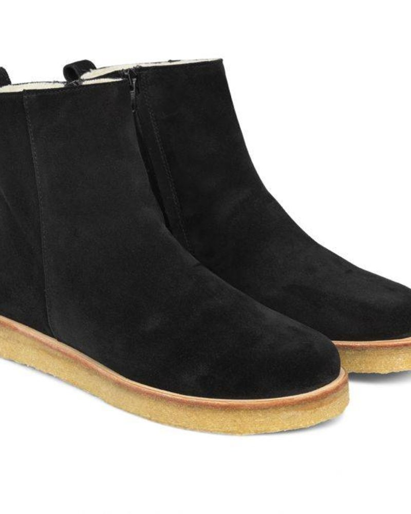 Angulus Wool Lining Boots Suede Black