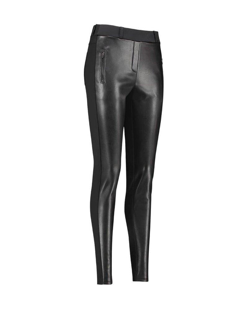 Studio Anneloes Margot Leather Trousers Black
