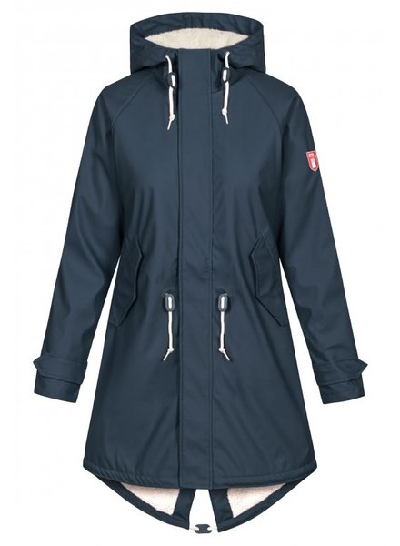 Derbe Hamburg Travel Cozy Rain Coat Navy