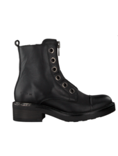Red Rag Mid Boot Front Zip Black Nappa