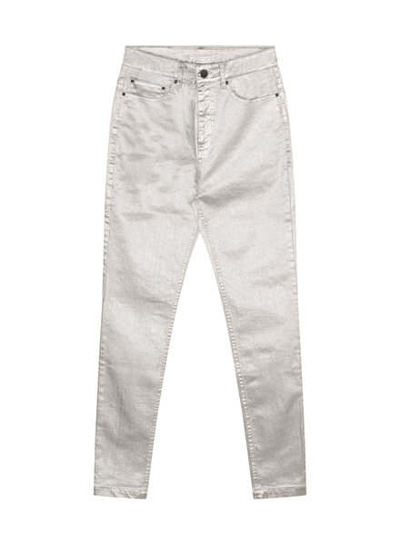 10Days Skinny Denim Metallic Silver