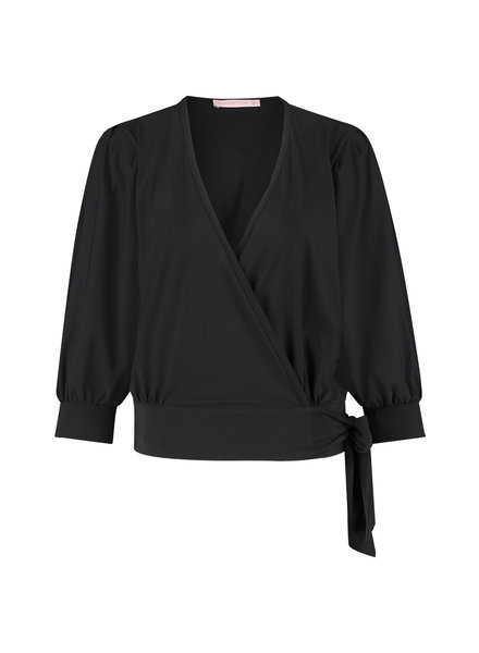 Studio Anneloes Aurora Wrap Blouse Black