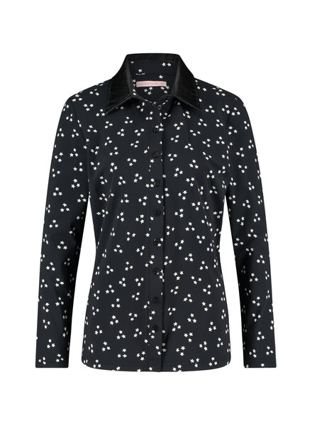 Studio Anneloes Poppy Star Shirt Black/Ivory