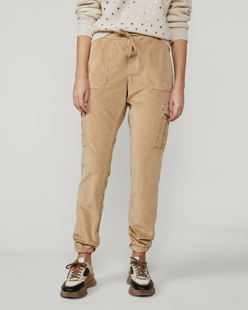 Summum Woman Tapered Cargo Pants Champagne Gold