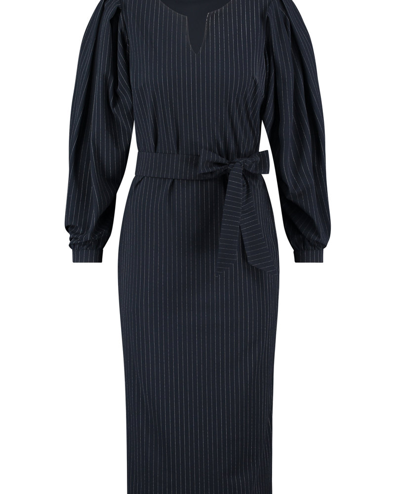 Studio Anneloes Flexy Pinstripe Dress Darkblue/Offwhite