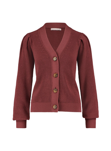 Studio Anneloes Jojo Cardigan Wine Red