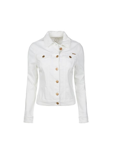 Summum Woman Basic Denim Jacket White