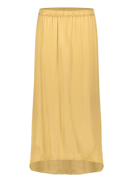PENN&INK N.Y  Satin Look Midi Skirt Gold
