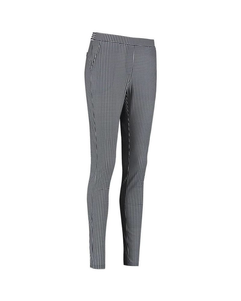 Studio Anneloes Pascal Small Check Trousers Offwhite/Darkblue