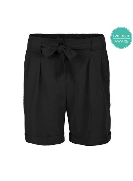 Summum Woman Short Trousers Tencel Black